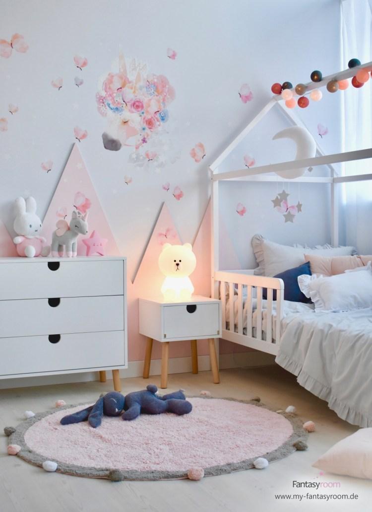 Kinderzimmer in Rosa einrichten & gestalten