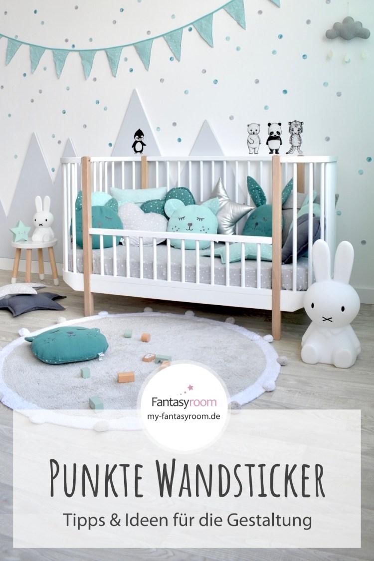 Kinderzimmer mit Punkte Wandstickern gestalten: Tipps & Ideen