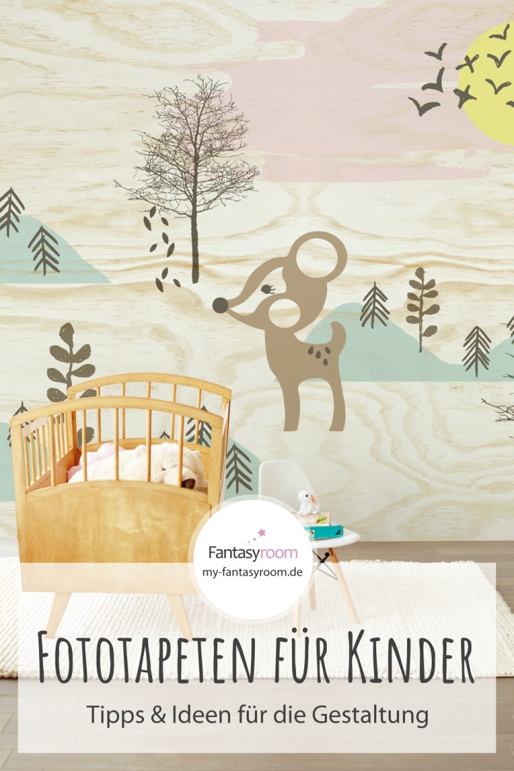 Kinderzimmer Wandgestaltung mit Fototapeten