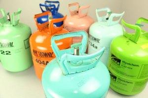 5 Multi-Colored Refrigerant Tanks