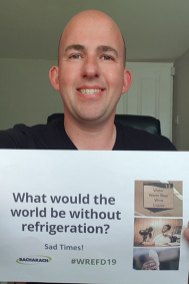 """Karl Roberts says that a world without refrigeration would be """"sad times."""""""
