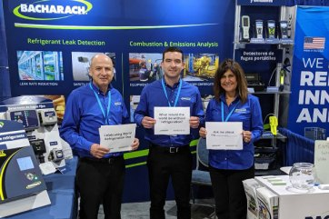 Pierre Khoury, Dan Kelly and Alma King celebrate World Refrigeration Day at the RefriAméricas conference in Miami, FL.