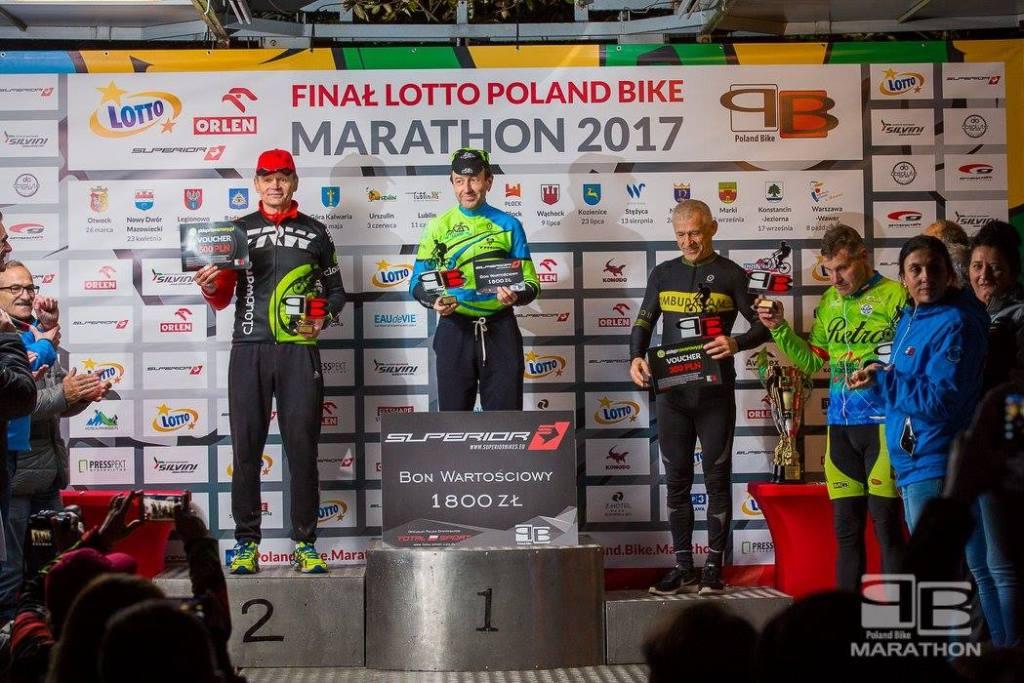 Krzysztof na podium Poland Bike w Wawrze