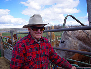 Photo of Frank Davis, 83, with his favorite horse
