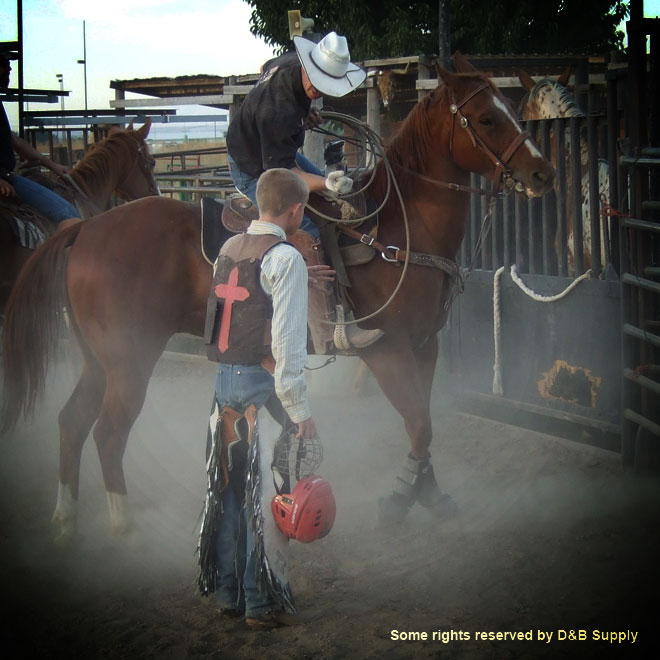 Kevin Hensen Teaching a Young Rider