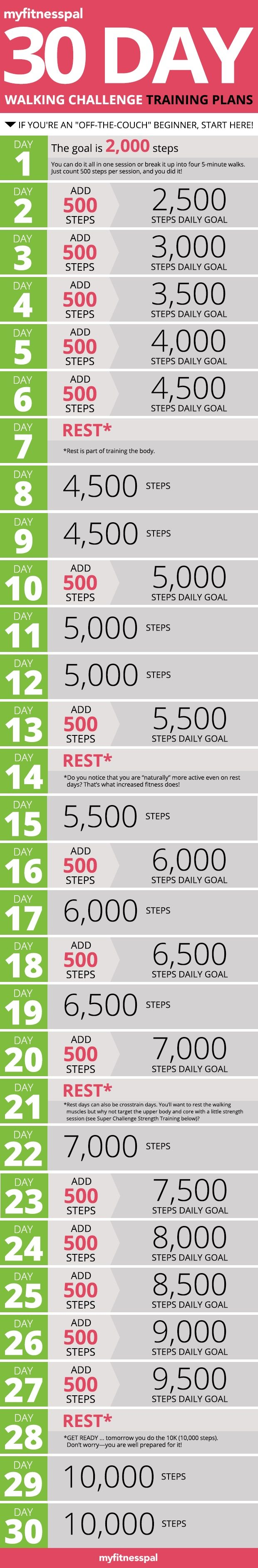 30 Days Walking Challenge