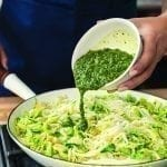 "Pesto ""Zoodles"" with Brussels Sprouts"