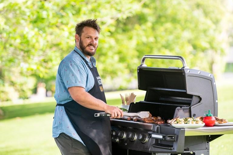 Ary Adzuki barbecuing