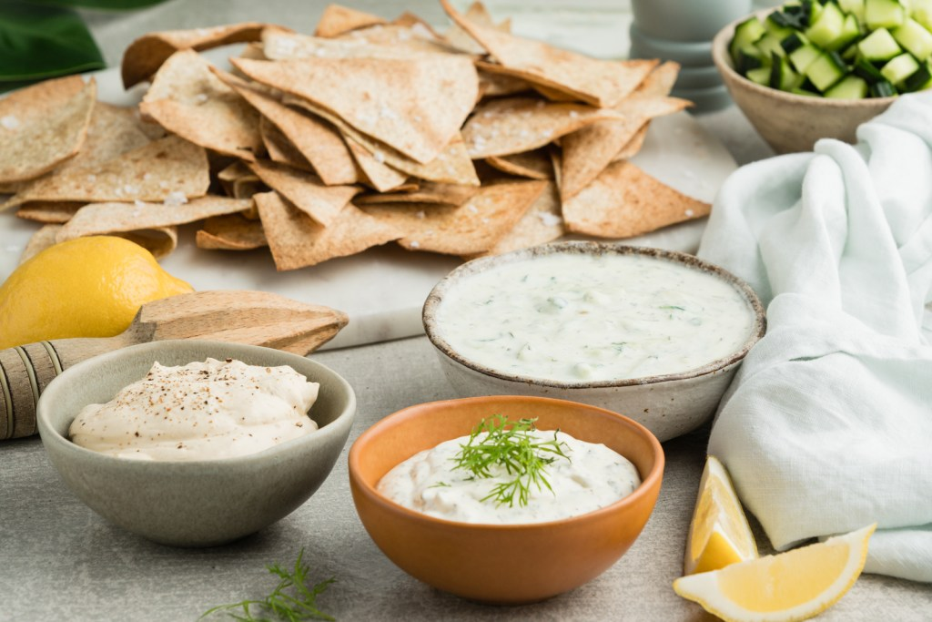corn chips with homemade dips