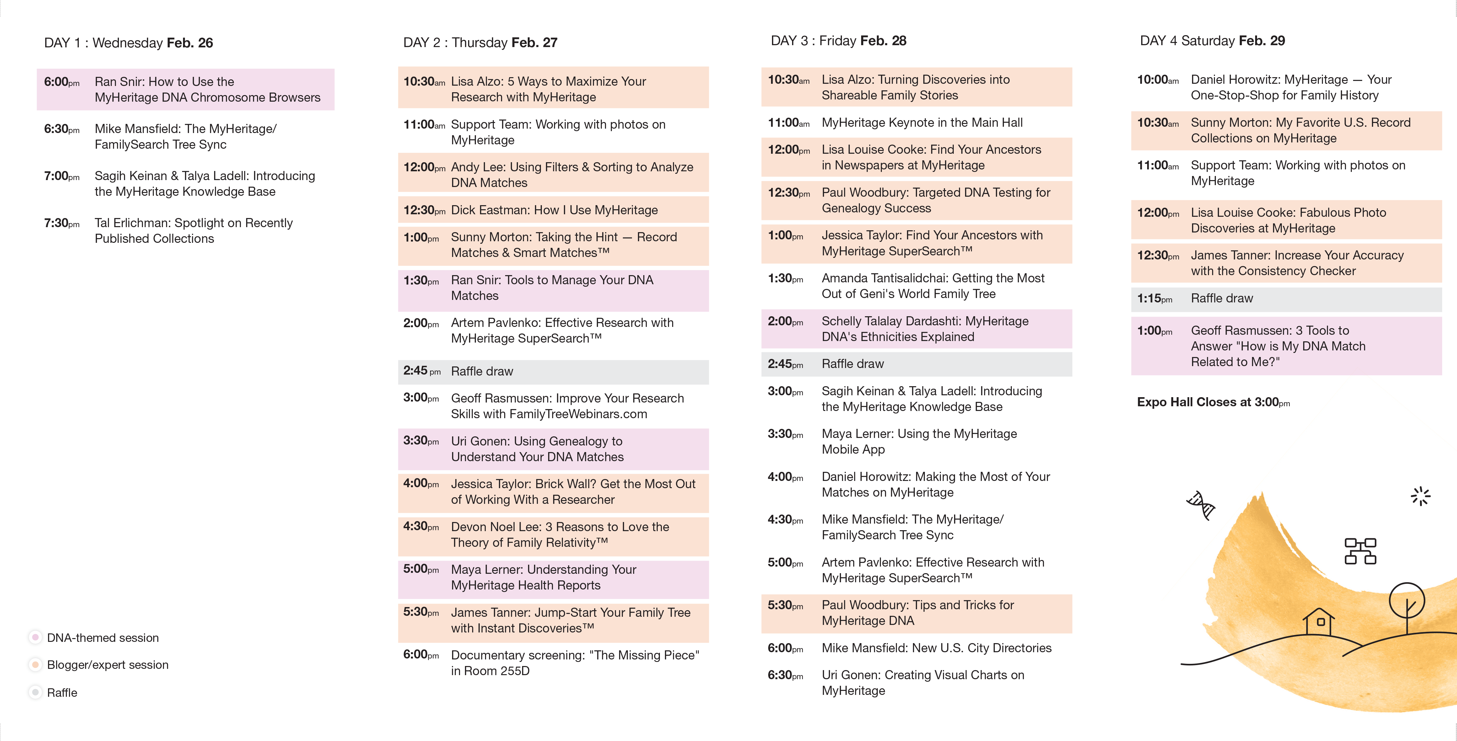 Full demo booth lecture schedule (click to zoom)