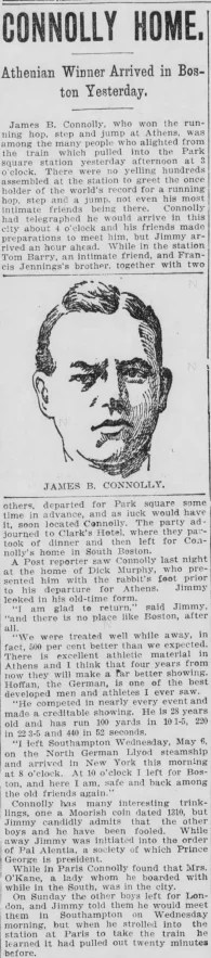 Clipping from the Boston Post, May 15, 1896