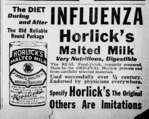 Spanish Flu Retail: Daily Capital Journal, Nov 19, 1918