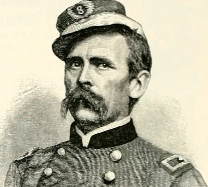 "After fleeing Germany for being a revolutionary, Louis Blenker became a brigadier general in the U.S. Civil War, image from ""Battles and Leaders of the Civil War,"" 1887."