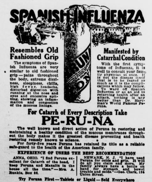 Spanish Flu Retail: Peruna