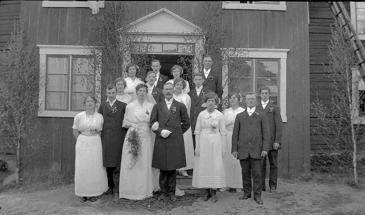 Wedding photo from early 1900, Dalarna Credit: Nordiska Museet