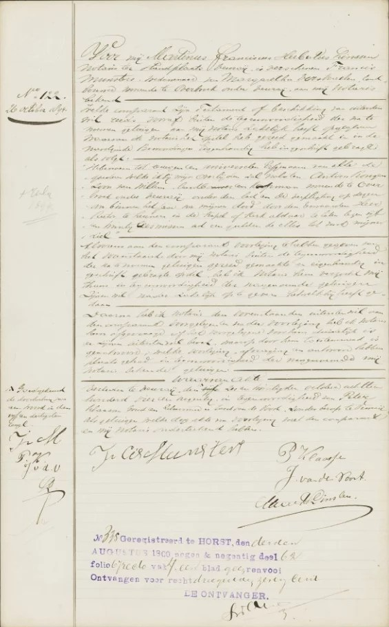 A notarial record from the Netherlands, Notarial Records, 1600-1935 Collection [Credit: MyHeritage]