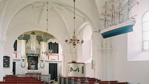 Draby Kirke, or church, in Ebeltoft, Denmark