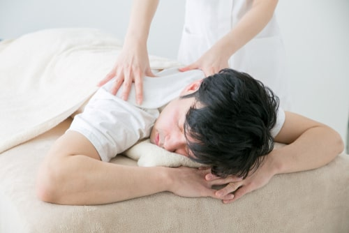 Man getting sports massage