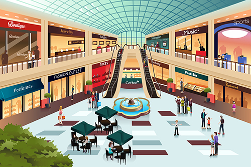 Shopping mall drawing
