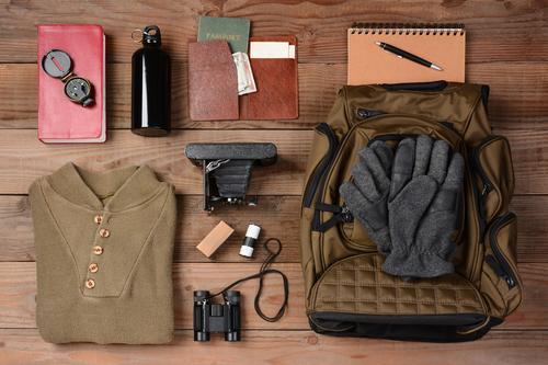Backpack + hiking gear