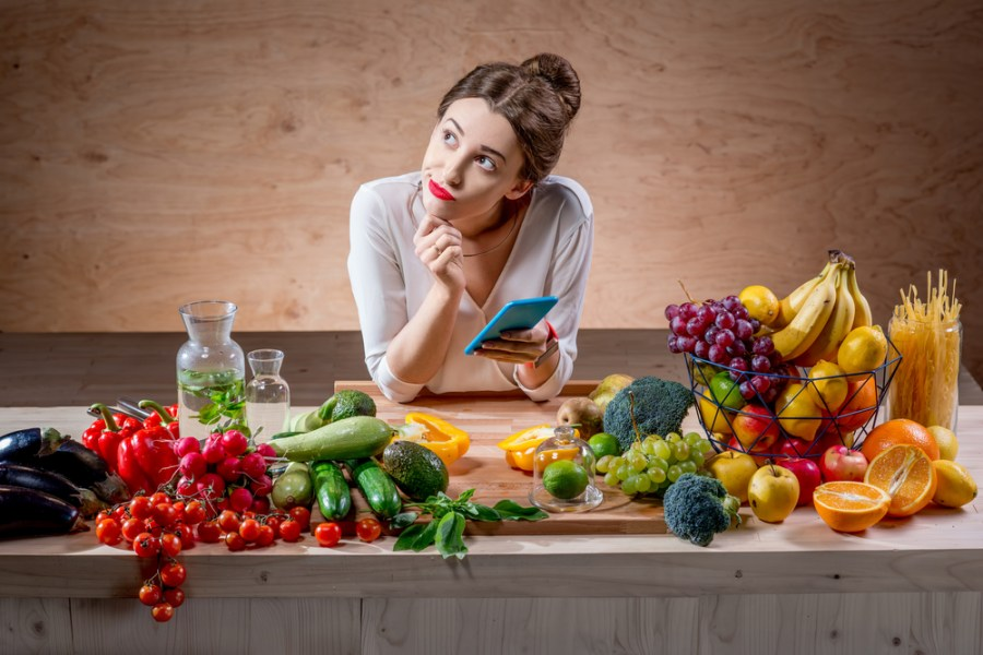 Woman thinking about cutting calories