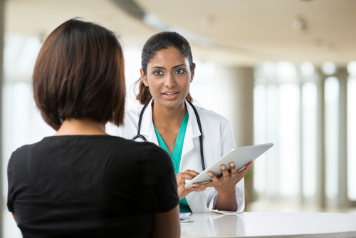 woman talking to her doctor