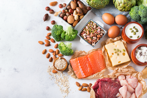 Meat, fish and other protein sources