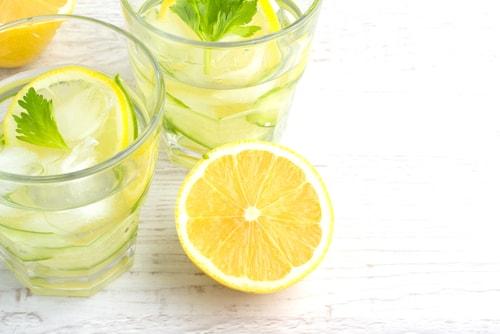 delicious lemon cucumber water
