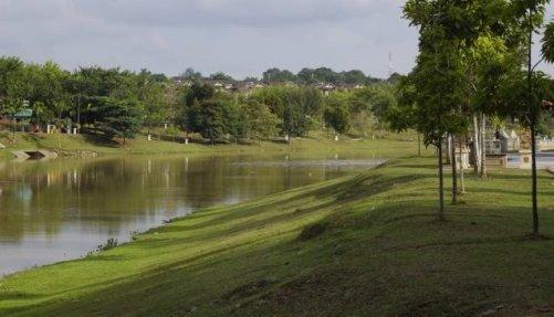 Taman Tasik Cempaka Malaysia Park Lake and Trees