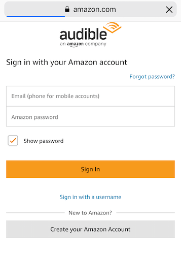 Amazon Audible Login