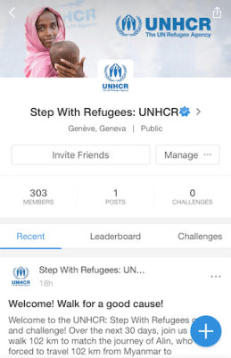 UNHCR Step With Refugees Pacer Group