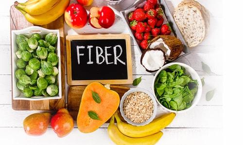 High-fiber foods - eat more fiber concept