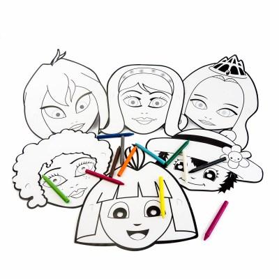 Masque à décorer Fille