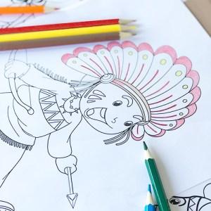 Coloriage Cowboys Et Indiens Le Blog My Party Kidz