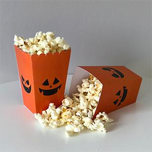 Boîte à pop-corn halloween