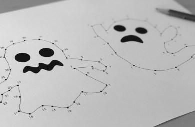 Photo Points à relier Halloween
