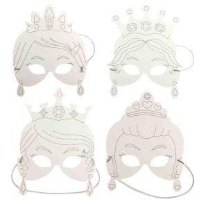 Masques Princesse à colorier
