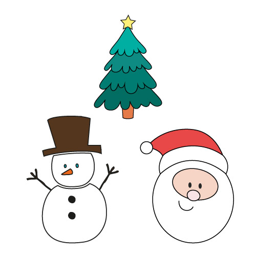 Dessiner pas à pas sur Noël