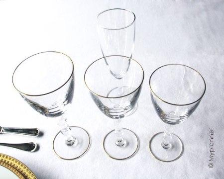 Installez vos verres sur une table