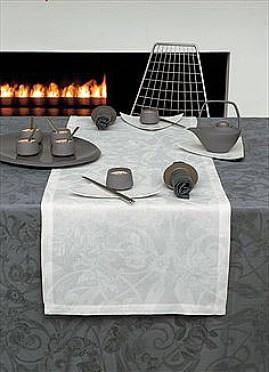 Thème de décoration de table-nappe grise