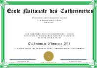 Diplôme de Catherinettes vert