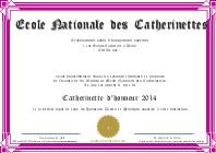 Diplôme de Catherinettes violet