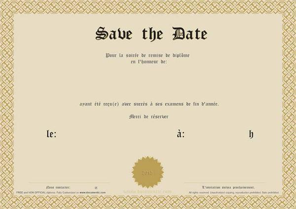 Un Save the date original pour une remise de diplôme