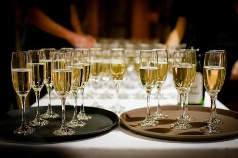 champagne pour une réception de première communion