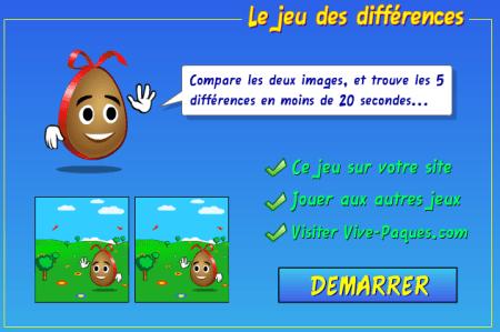 jeu des différences de Paques en ligne