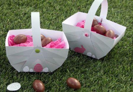 Paniers à oeufs de Pâques en papier à télécharger