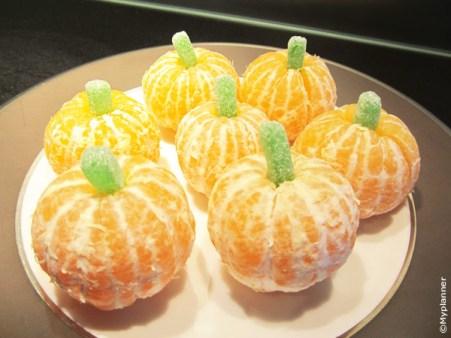 clémentines citrouilles d'halloween