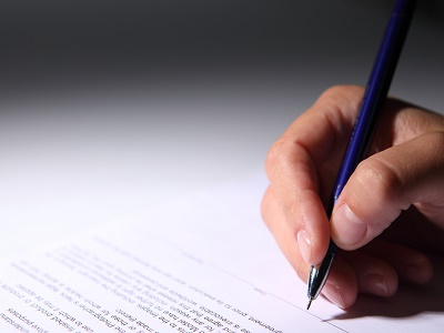 lettre écrite à la main