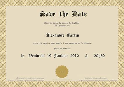 save the date pour remise de diplome