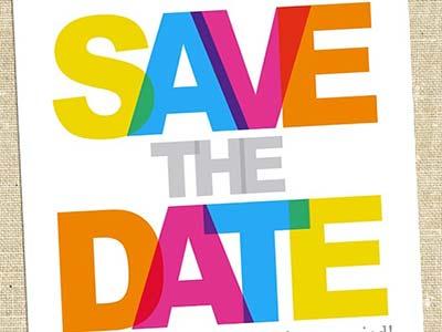 save the date multicolore